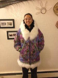 My first parka! The ruff is made up of Arctic fox & black beaver. :D
