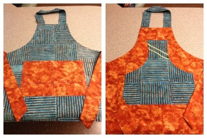 This is the first apron that I ever made. I just copied the pattern from an apron that was given to me.