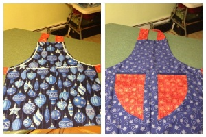 Holiday apron that I kept for myself.