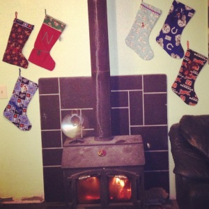 My auntie made me the red stocking when I was a young girl. I wanted to keep the tradition alive and made my step-children and husband stockings.
