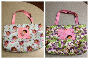 Reversible Dora the explorer bag