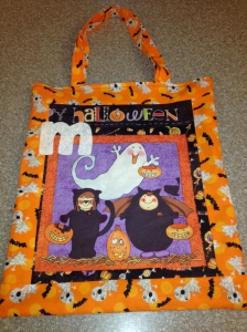 M Halloween trick or treat bag