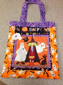 Halloween trick or treat bag side A