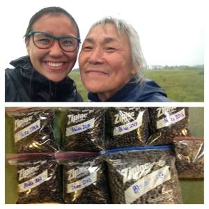 This was mom and me after picking blueberries. A memory that I will treasure forever.