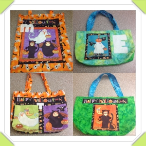I love making homemade gifts for neices and here their new Halloween trick-or-treat bags