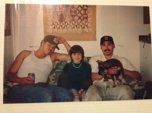 Fishcamp days. Nick, me and my brother. Miss you always Nick.