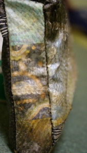 I love how you can see the paisley thru the fish skin.