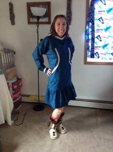 Miss WEIO sporting her sporty blue
