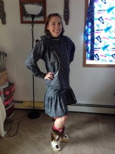 Miss WEIO sporting her gray qaspeq