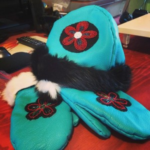 matching hat and glove set