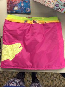 pink snow skirt